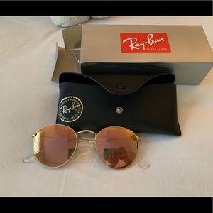 Ray-Ban Round Sunglasses - Gold